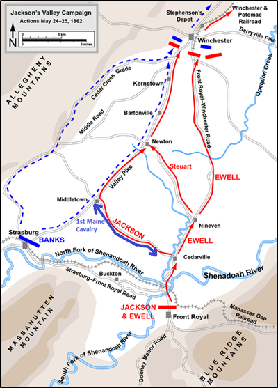 1st Maine Cavalry Map