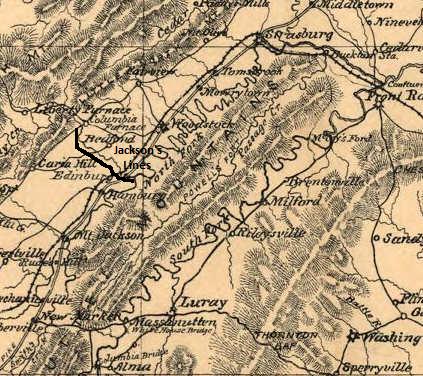 Shenandoah Map Jackson