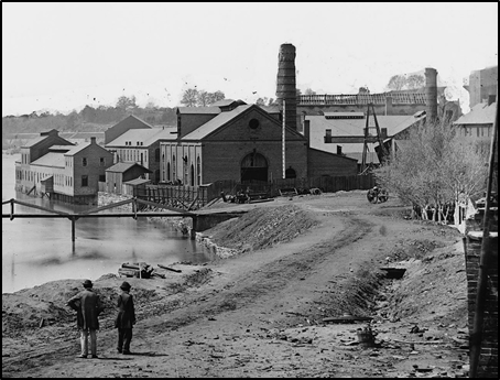 Tredegar Iron Works in 1865