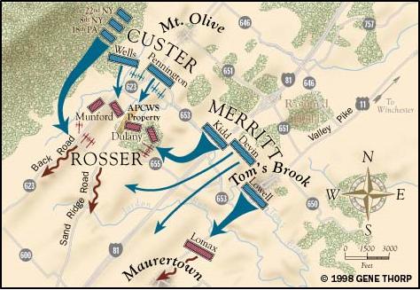 Toms Brook Map